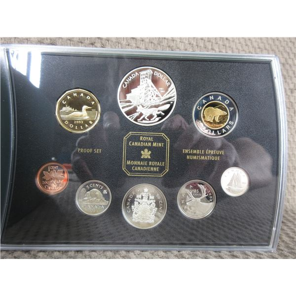 2002 - 8 Coin Proof Set with Colbalt Silver Strike Coin
