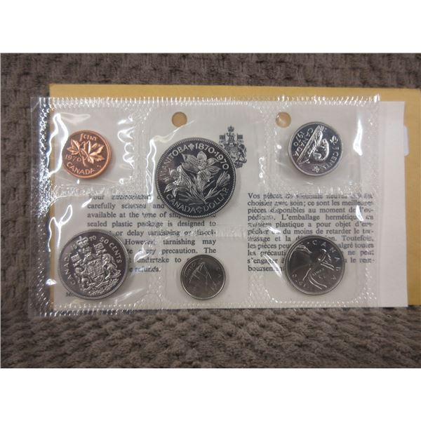 1970 Uncirculated Canadian 6 Coin Set