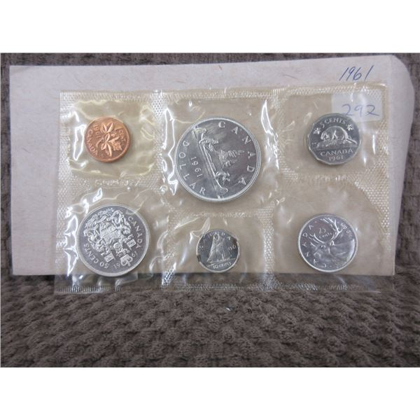 1961 Uncirculated Canadian 6 Coin Set
