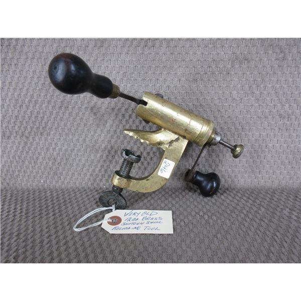 Vintage Brass Shotgun Shell Reloading Tool