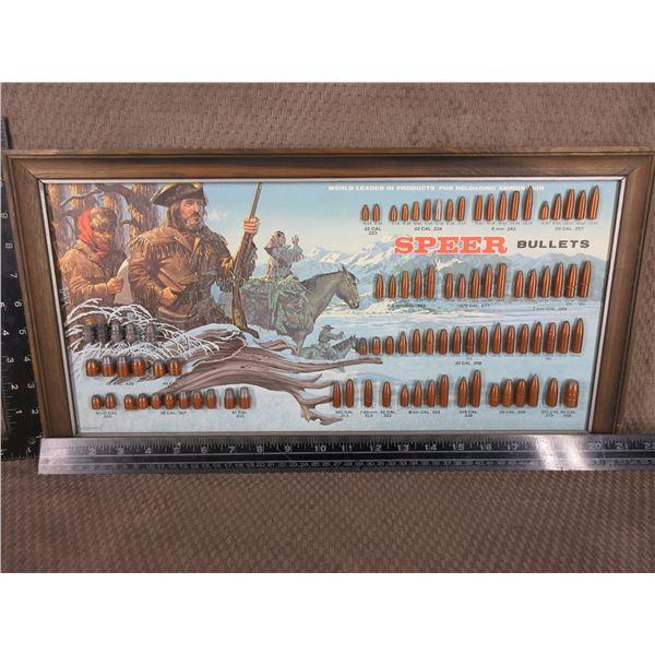 Speer Bullet Board Display Lewis and Clark 1973