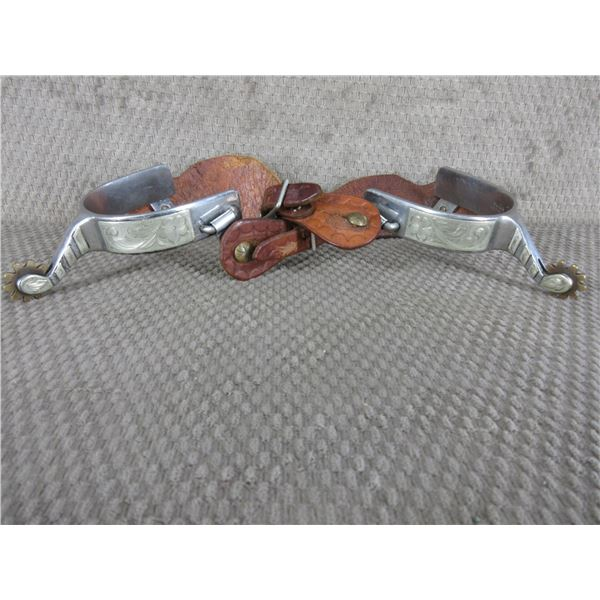 Winchester Hand Forged Spurs with Straps