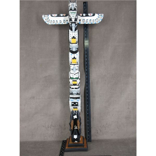 Indigenous Totem Pole 38 Inches High
