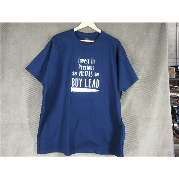 NEW - T-Shirt in 2XL - Invest in Precious Metal Buy Lead