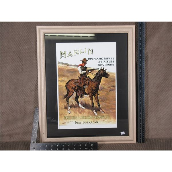 The Marlin Firearms Co. Poster in Frame