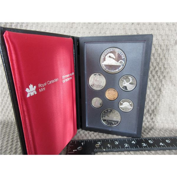 1986 Canada Double Dollar 7-Coin Proof Set inCase