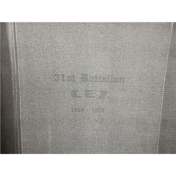 Photocopy of Book about 31st Battalion of C.E.F. 1914-1919