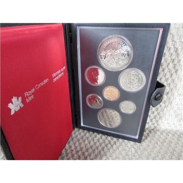 1980 Canada Double Dollar 7-Coin Proof Set inCase