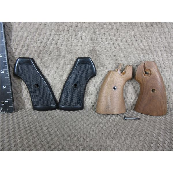 Unknown Black Grips and Unknown Broken Wood Grips