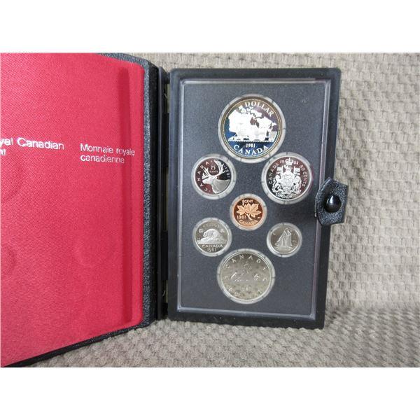 1981 Canada Double Dollar 7-Coin Proof Set inCase