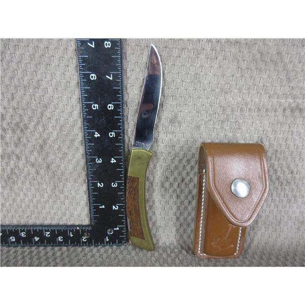 Gerber Folding Knife with Sheath - Appears Used