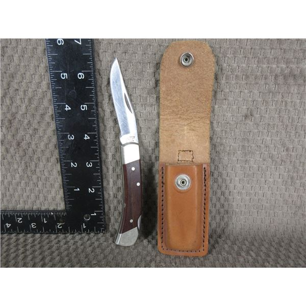 Schrade Uncle Henry Folding Knife with Sheath - Used