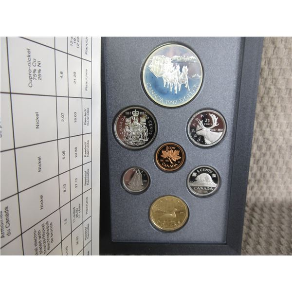 1992 Canada Double Dollar 7-Coin Proof Set inCase
