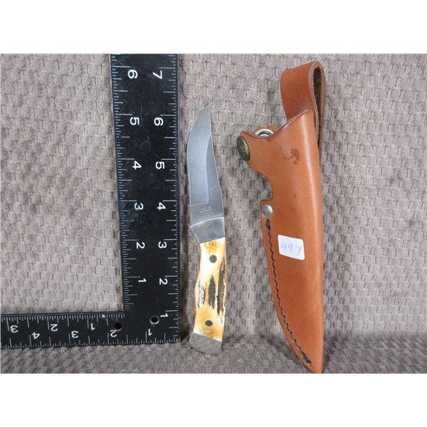 Case XX Damacus Knife 1990 with Sheath - Used