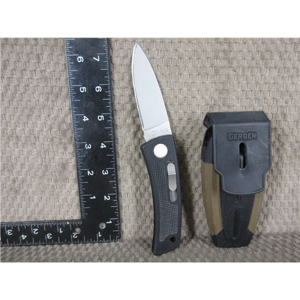 Gerber Bolt Action Knife with Sheath - Used