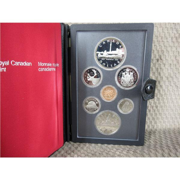 1984 Canada Double Dollar 7-Coin Proof Set inCase