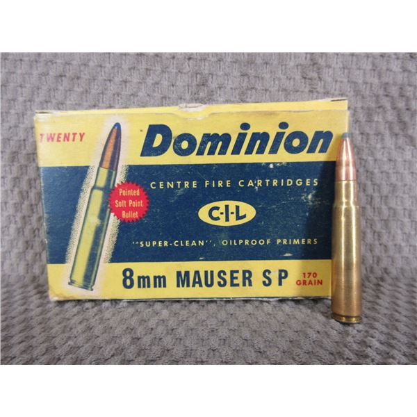 8mm Mauser Dominion Collector Box of  20