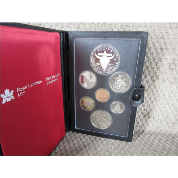 1982 Canada Double Dollar 7-Coin Proof Set inCase
