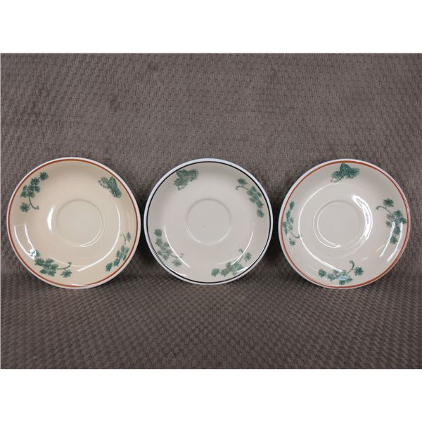 Mountain Trails Western Canadian Art - 3 Saucers