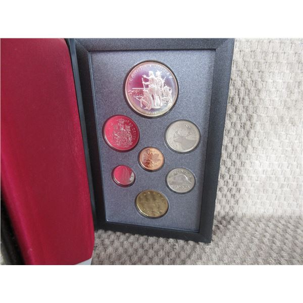 1990 Canada Double Dollar 7-Coin Proof Set inCase