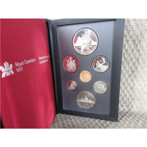1987 Canada Double Dollar 7-Coin Proof Set inCase