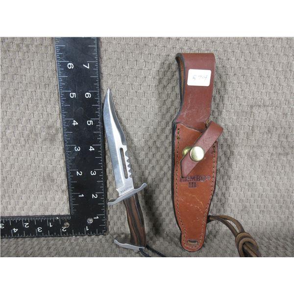 Rambo III Mini Knife with Sheath - Surgical Steel Japan