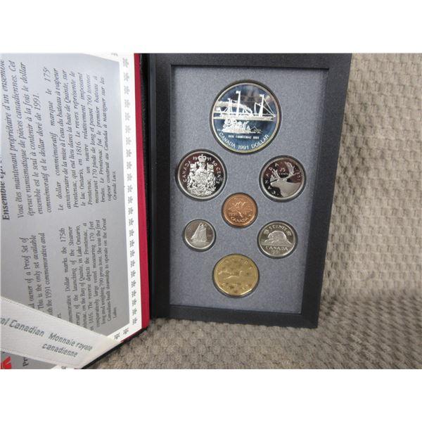 1991 Canada Double Dollar 7-Coin Proof Set inCase