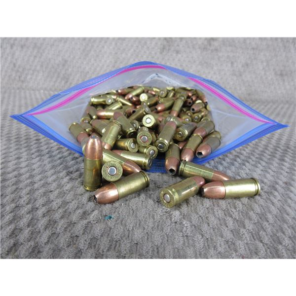 9MM - Bag of 145 Rnds - Reloads sold as componets