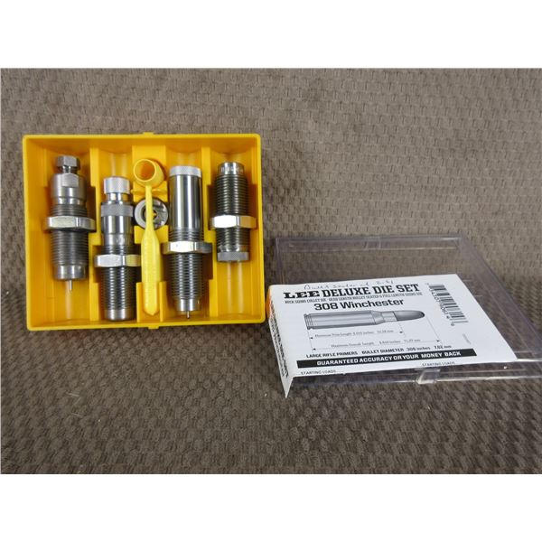 308 Winchester Lee Deluxe 4 Die Set with Shell Holder