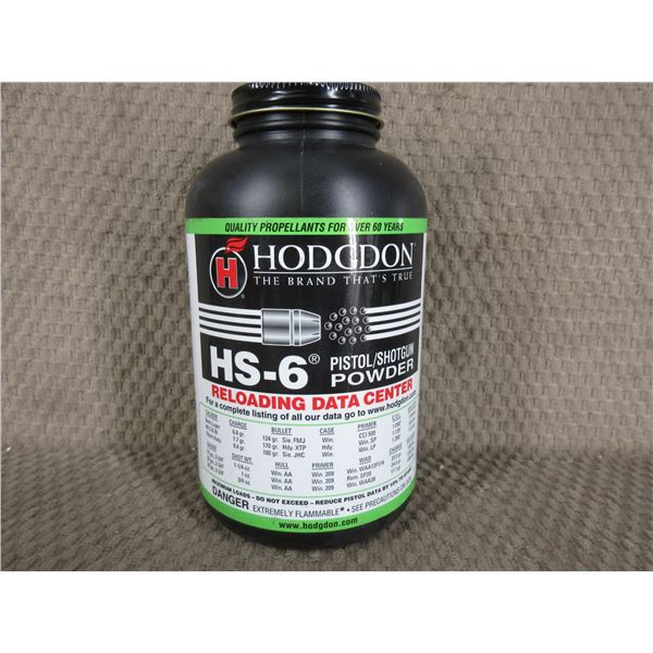 Hodgdon HS-6 Powder - Can weighs 468 Grams