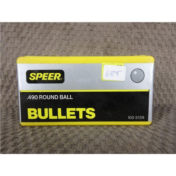 Speer 490 Round Ball Box of 100 Unopened
