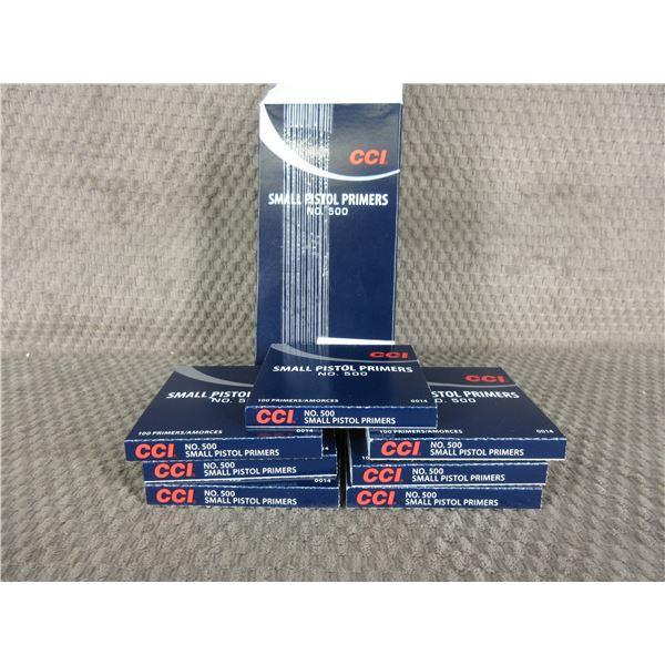 CCI Small Pistol Primers No.500 - 7 boxes of 100