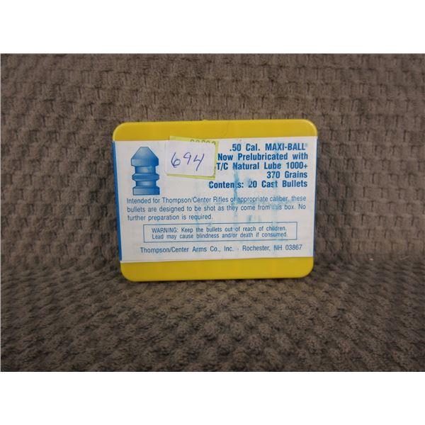 50 Cal Maxi-Ball 370 gr Thompson Center - Box of 20