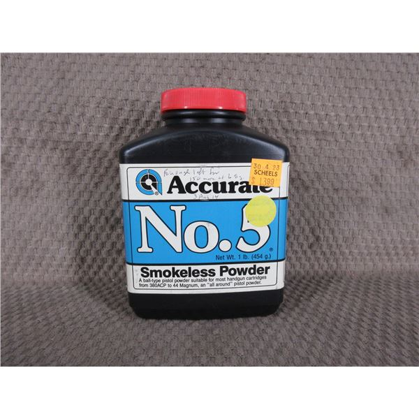 Accurate No. 5 Powder - Can Weighs 136 Grams