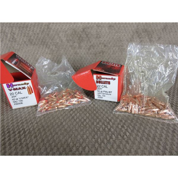 2 Opened Boxes of Hornady Bullets