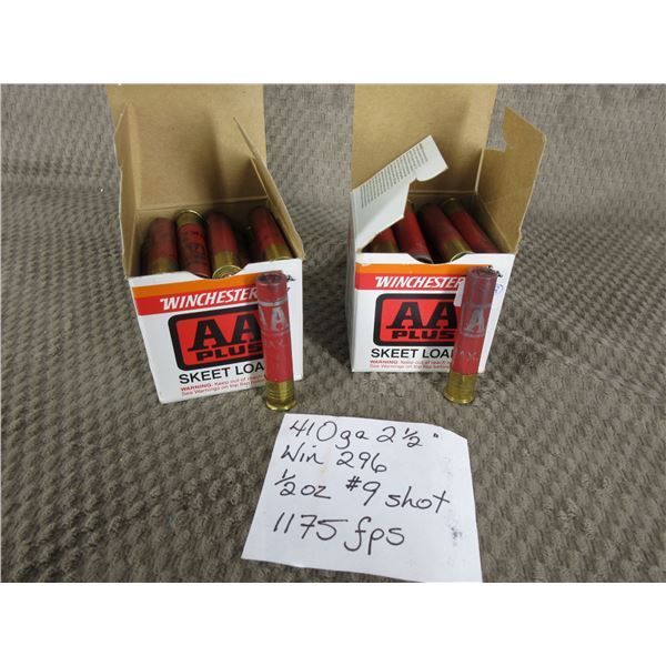 """410 Ga 2 1/2"""" 2 Boxes of 25 - Reloads sold as componets"""