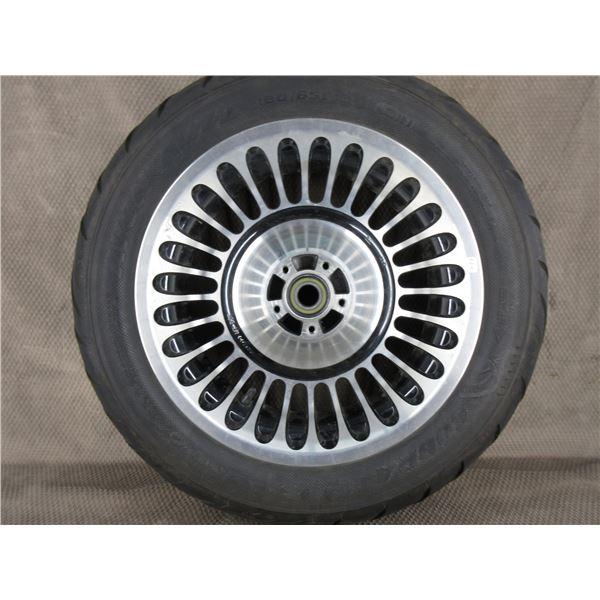 Used 180/65B16 M/C 81H Cobra Tire on H-D Wheel T16X5.00 MT