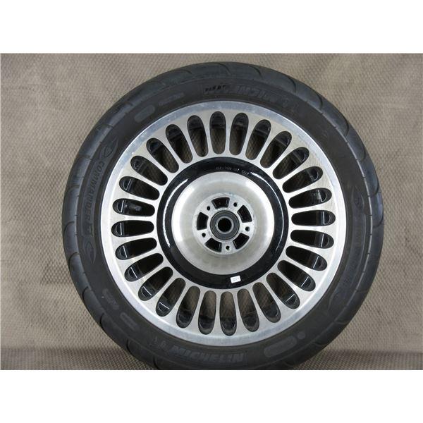 Used 130/80B17 M/C 65H Michelin Commander II Front Tire on H-D Wheel T17X3.00 MT
