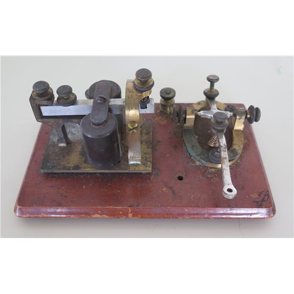 "Vintage J.H. Bunnell & Co Telegraph Set Key & Sounder 7.5""x4.5"""