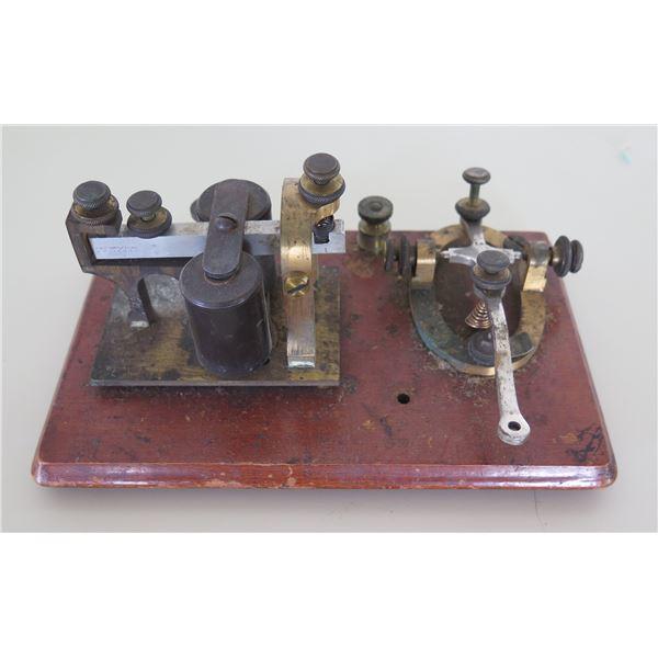 "Vintage J.H. Bunnell & Co Telegraph Set Key & Sounder 7.5""x4.5"""