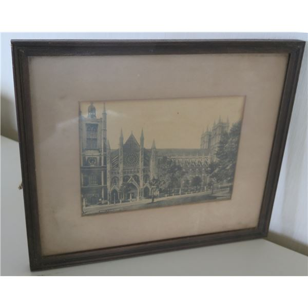 "Westminster Abbey N. Side 8769 Framed & Matted 12""x10.5"""