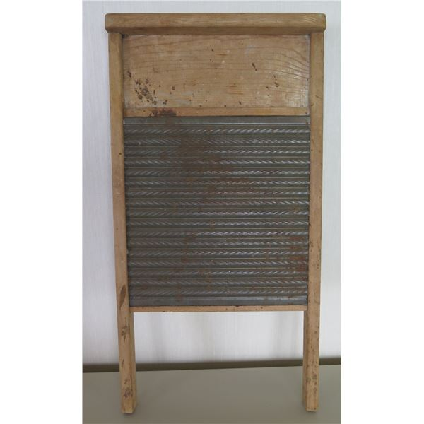 "Vintage Wooden Washboard 'From the Best' #608  12""x24"""