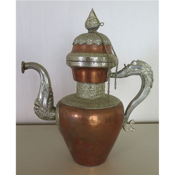"""Antique Ewer with Lid 13""""H"""