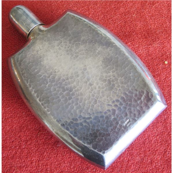 "Silver Flask Marked 'Silver 970'  6"" x 3"""