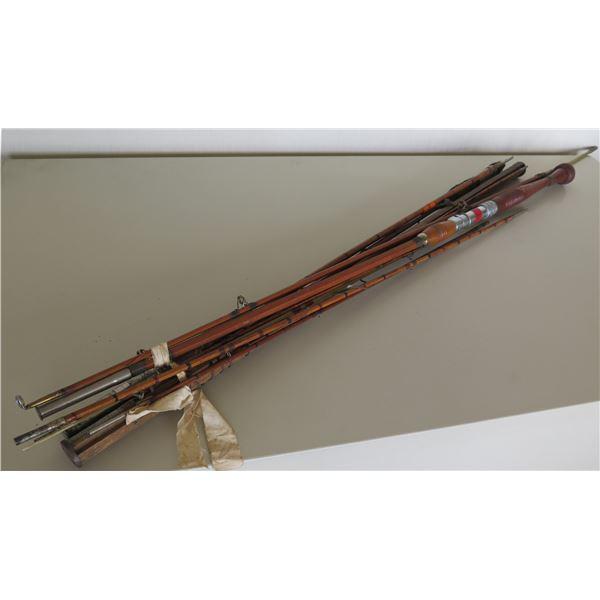 Multiple Horrocks-Ibbotson Genuine Tonkin Cane Vintage Fishing Rods
