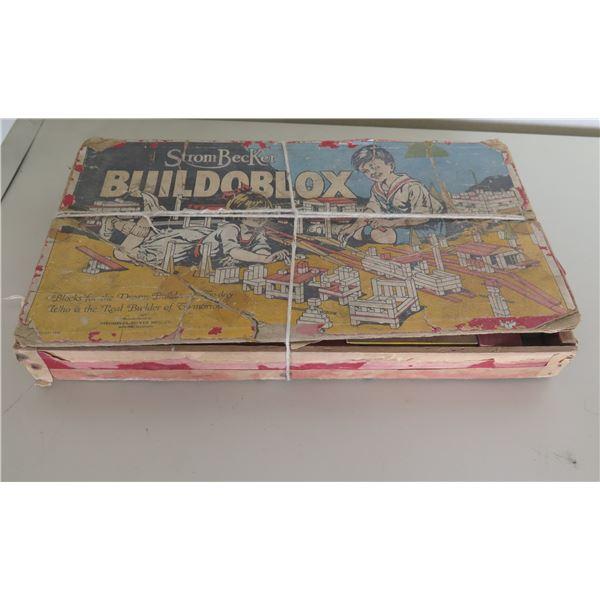 Vintage Strom Becker BuildBlox Copyright 1926 in Original Box