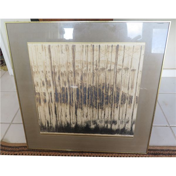 """Abstract Artwork 'The View Between' #3/10 Signed EAH Preston Framed  23""""L"""