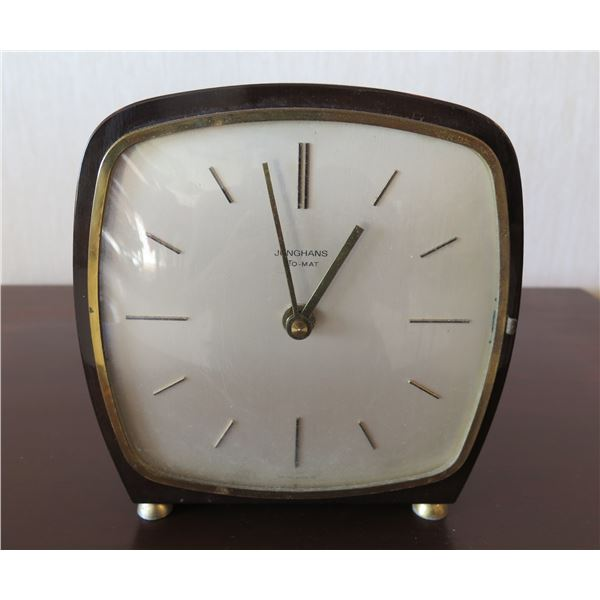 """Vintage Junghans Ato-Mat Clock Electro-Mechanical Made in Germany 7""""D"""