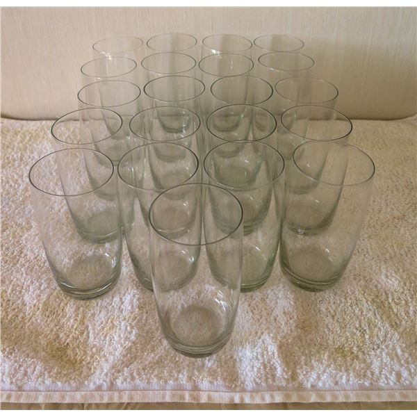 """Qty 21 Gray Tinted Juice Glasses 3""""x5""""H"""