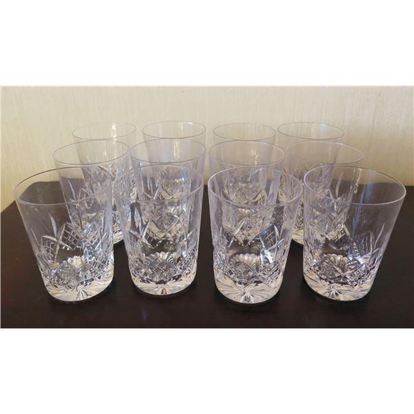 "Qty 12 Clear Crystal Glasses 3""x4"""